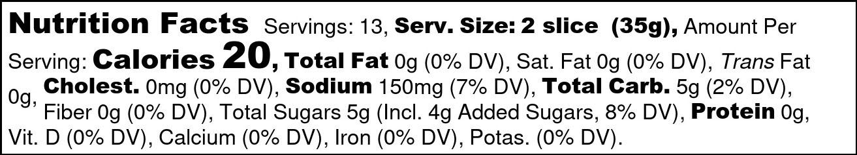 Sweet Soulshine Nutrition Facts