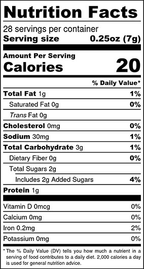 Creole Mustard Nutrition Facts